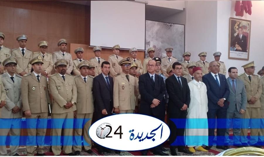 بالصور.. عامل الجديدة يشرف على حفل تنصيب رجال السلطة الجدد بالاقليم