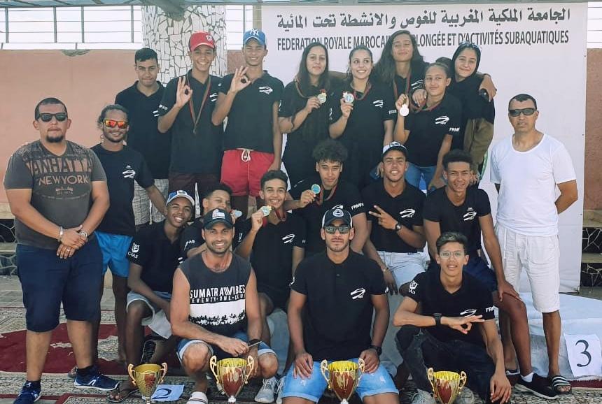 جمعية الغوص بالجديدة تتوج ببطولة المغرب للغوص الرياضي بالمسبح