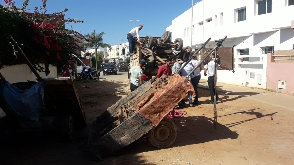 بالصور.. سلطات الجديدة تشن حملة على العربات المجرورة المتخصصة في بيع الفواكه والخضر