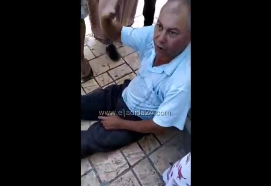 شاهد.. سائق طاكسي يتهم شرطي بالاعتداء عليه في الشارع العام بالجديدة