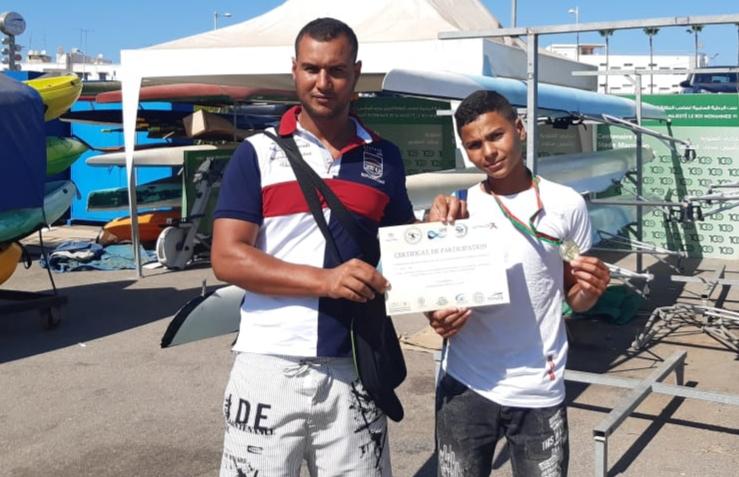 تتويج لاعب الدفاع الحسني الجديدي للبيئة والرياضات البحرية أنوار دلال ببطولة المغرب في رياضة ''الكانوي كياك''