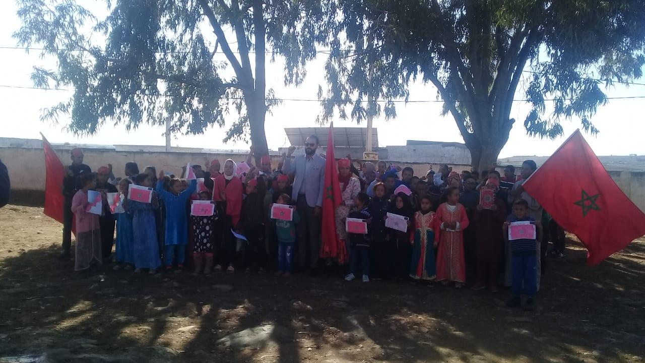 مجموعة مدارس المنفلوطي بمديرية الجديدة تحتفل بعيد الاستقلال