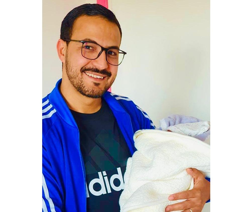 تهنئة بمولود في بيت الاخ أمين شاكر