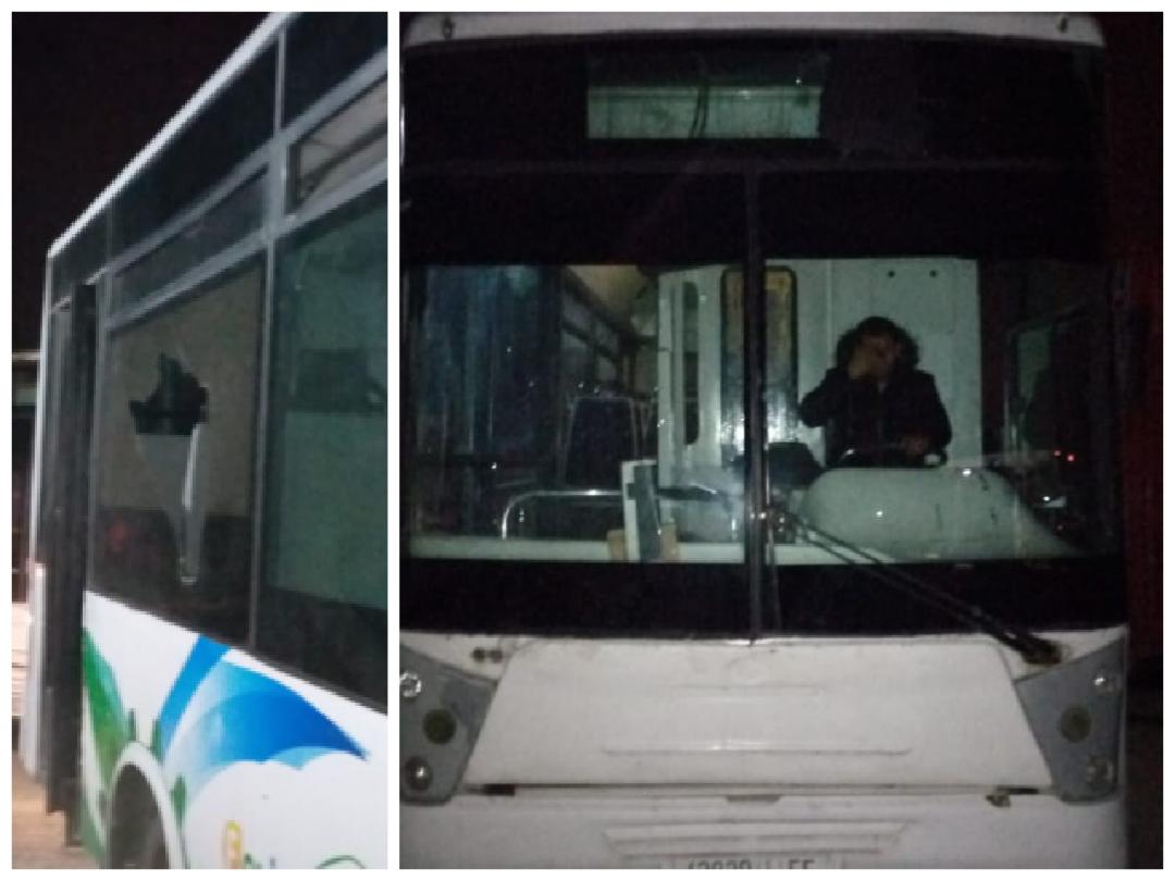 إعتداء وتهشيم لمجموعة من حافلات النقل الحضري بالقرب من دوار تكني بالجديدة
