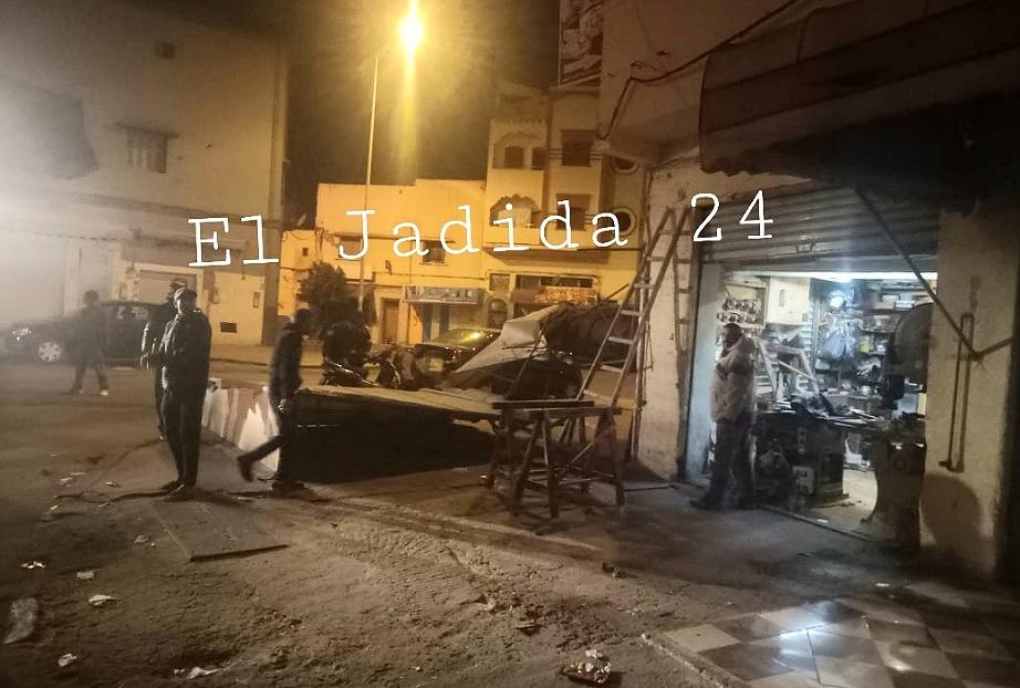 سلطات الجديدة تشن حملة واسعة وغير مسبوقة لتحرير الملك العام بازقة وشوارع حي لالة زهرة