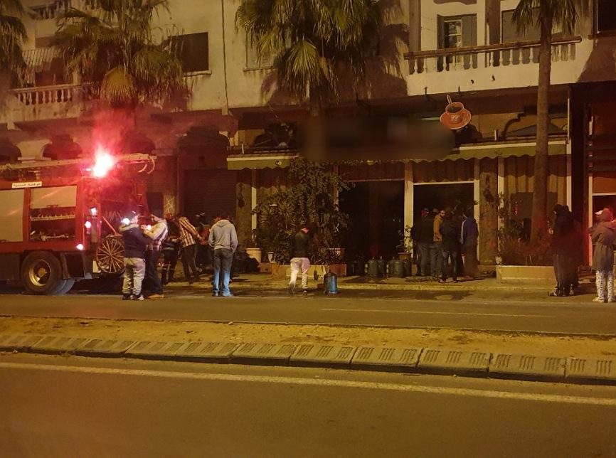 عاجل.. حريق مجهول يأتي على مقهى بالكامل بإقامة البشرى بالجديدة