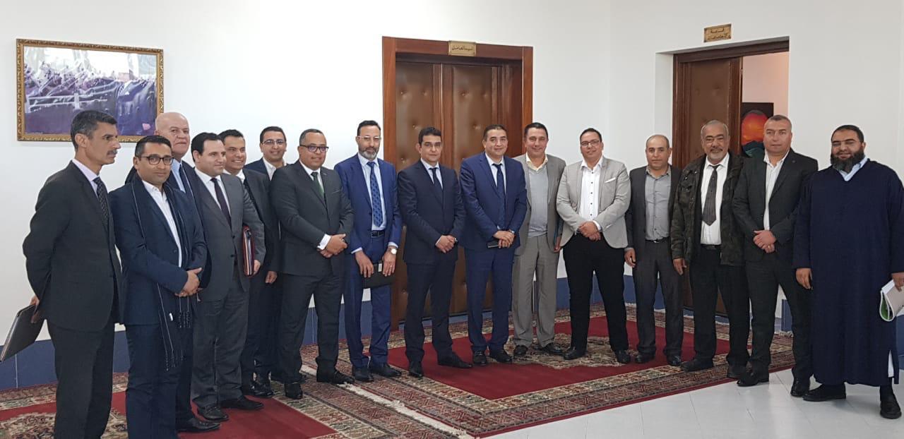 الدفاع الحسني الجديدي يقدم مشروعه الجديد ''رؤية 2020'' أمام عامل إقليم الجديدة