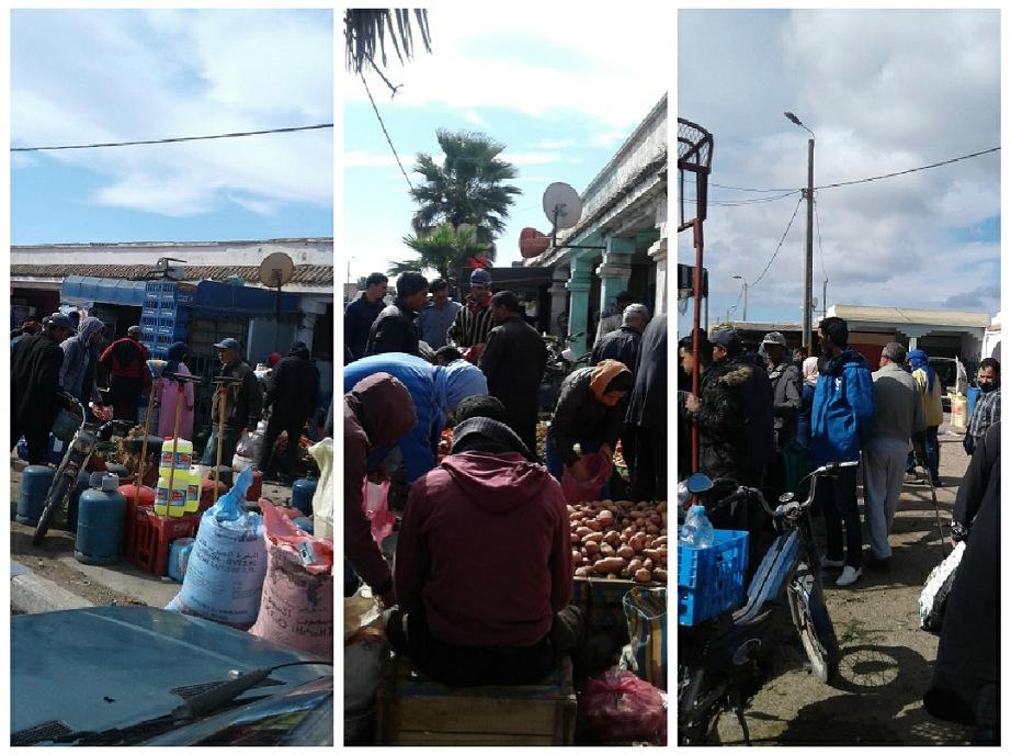 مواطنو جماعة الغربية باقليم سيدي بنور توافدوا على سوقهم الاسبوعي دون الحاجة للترخيص بالتنقل
