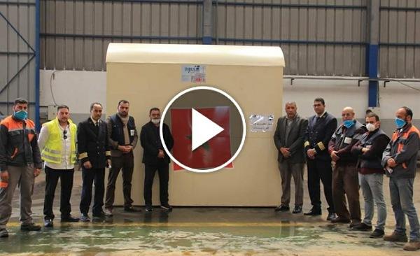شركة صناعية باقليم الجديدة تصنع بوابة الكترونية للتعقيم وتهديها لمستشفى الجديدة