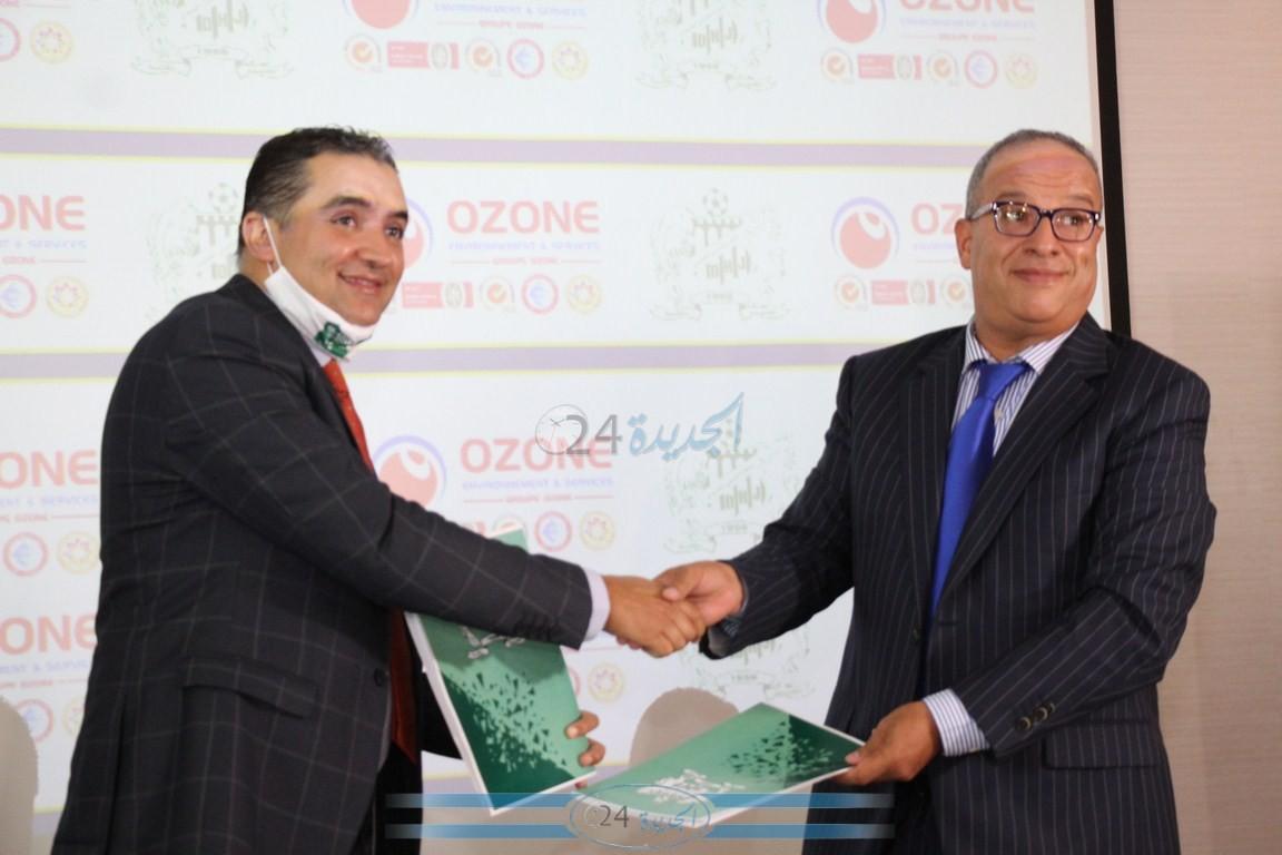 شاهد .. توقيع عقد شراكة واستشهار بين الدفاع الحسني الجديدي و مجموعة اوزون
