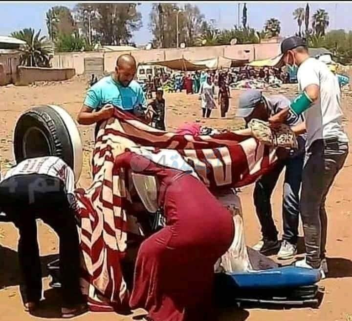 خبر اليوم.. امرأة تضع مولودتها داخل السوق الاسبوعي بمدينة البئر جديد