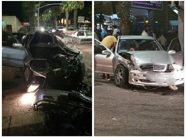 بالصور.. إصابة عدة أشخاص في اصطدام سيارتين قرب قصر العدالة بالجديدة