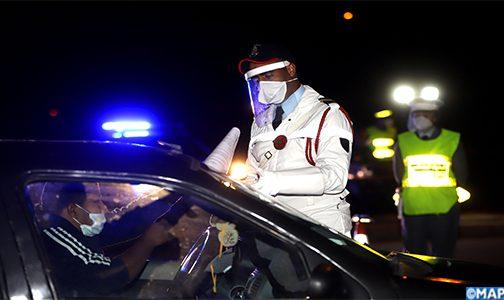 درك سيدي بنور يغرم 50 شخصا لعدم ارتداء الكمامة ويعيد 150 سيارة كانت قادمة من مراكش والبيضاء في اتجاه الواليدية