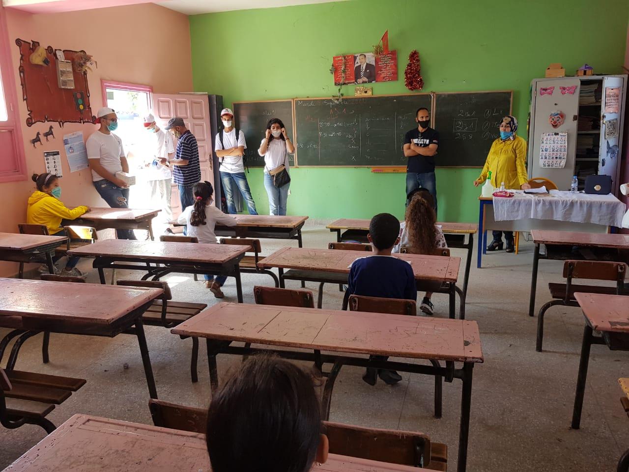 مدرسة ابن حمديس بآزمور تفعل مضامين التدابير الاحترازية بدخول مدرسي ناجح