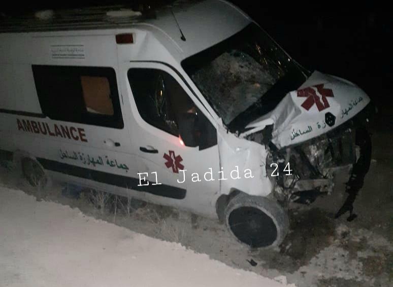 سيارة إسعاف جماعية تتسبب في حادثة سير مميتة قرب جماعة اثنين شتوكة بإقليم الجديدة