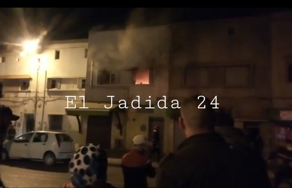عااجل.. وفاة محامي في حريق مهول داخل منزله في حي المويلحة بالجديدة + فيديو