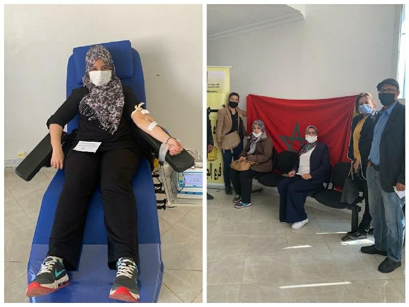 نساء حزب الحركة الشعبية بالجديدة ينظمن حملة للتبرع بالدم
