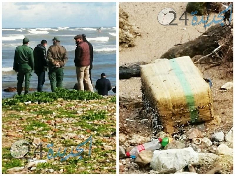 مياه البحر  بشاطىء الجديدة تلفظ كميات هامة من المخدرات