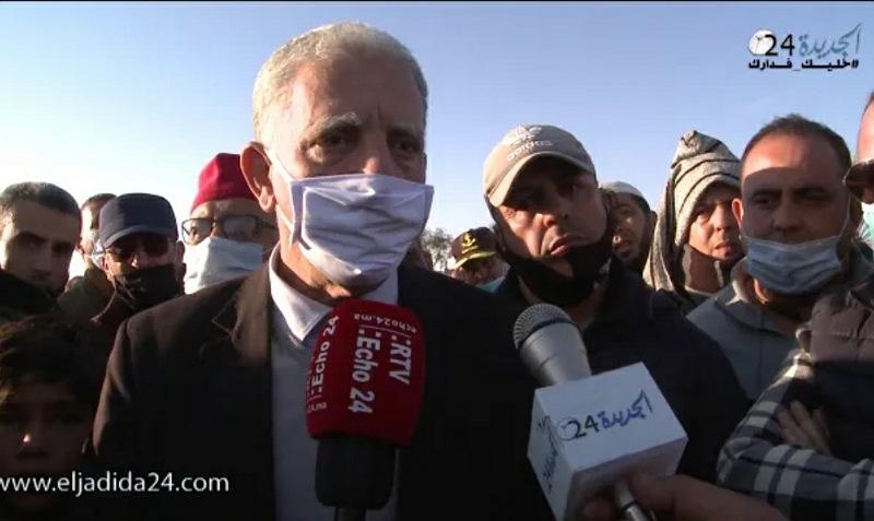 شاهد.. جنازة مهيبة للمرحوم نور الدين فايزي بالجديدة وشهادات مؤثرة في حق الفقيد
