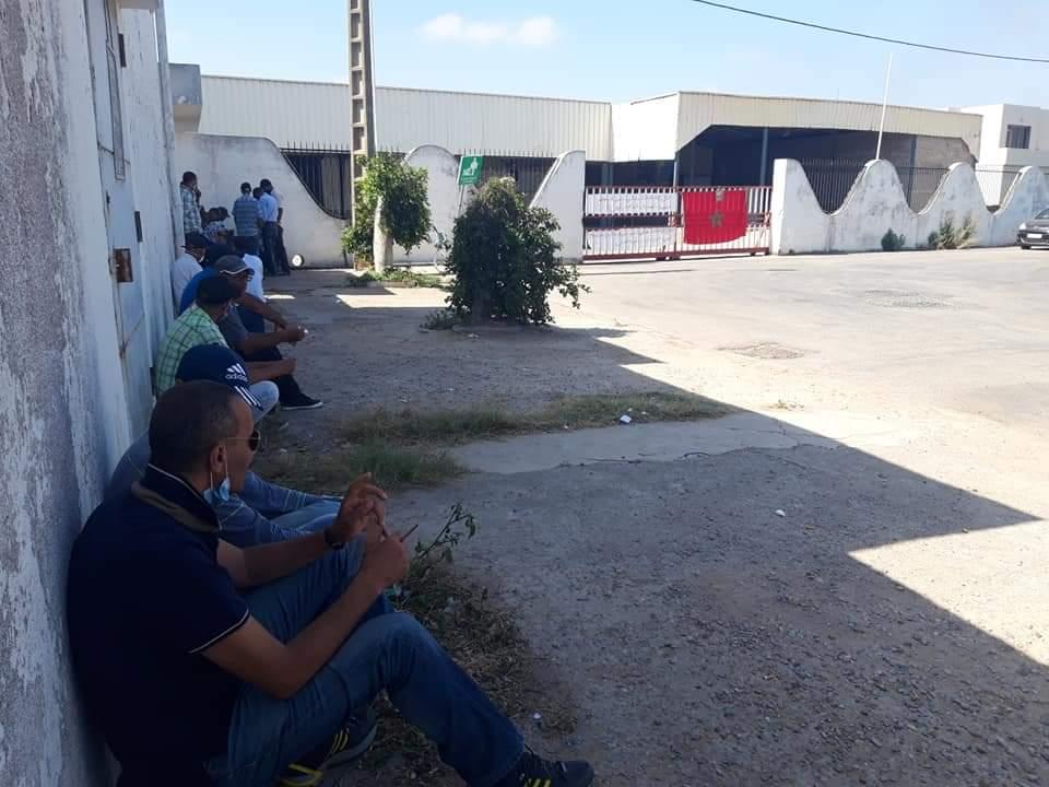 عمال شركتي ''صوناکار'' و''ليكس بابيي'' بالجديدة يدعون الى اعتصام مفتوح بمقر العمل ووقفة احتجاجية أمام العمالة