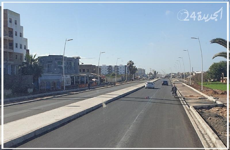 إغلاق الطريق الرابطة بين الجديدة وسيدي بوزيد يخرج  ساكنة إقامة نعمة 2و3 للاحتجاج