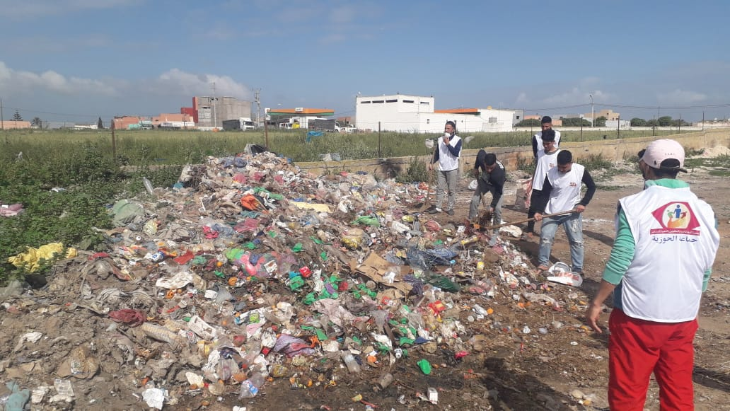 الجديدة : جمعية الرجاء للتربية و التكوين و التنمية المستدامة تنظم حملة نظافة واسعة