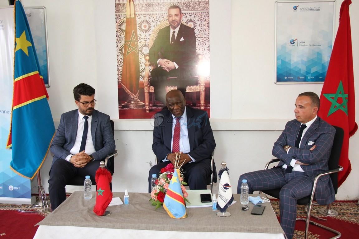 شاهد ... سفير جمهورية الكونغو الديمقراطية في زيارة خاصة إلى مدينة الجديدة