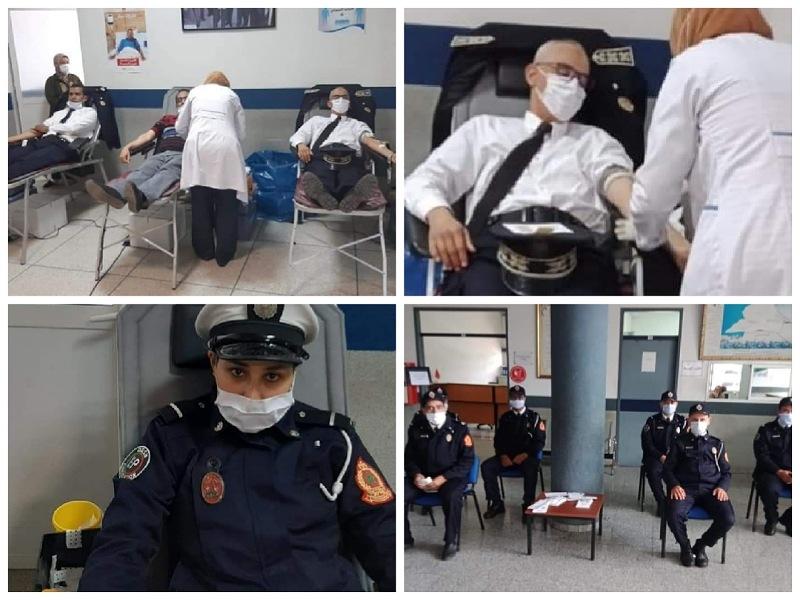 رجال ونساء الأمن الوطني بالجديدة ينخرطون في حملة للتبرع بالدم