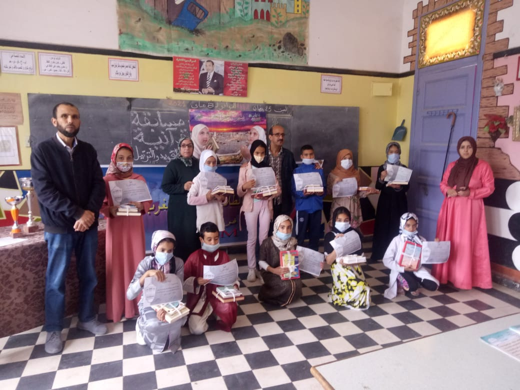 تنظيم مسابقة في تجويد القرآن بمدرسة ابن حمديس بآزمور