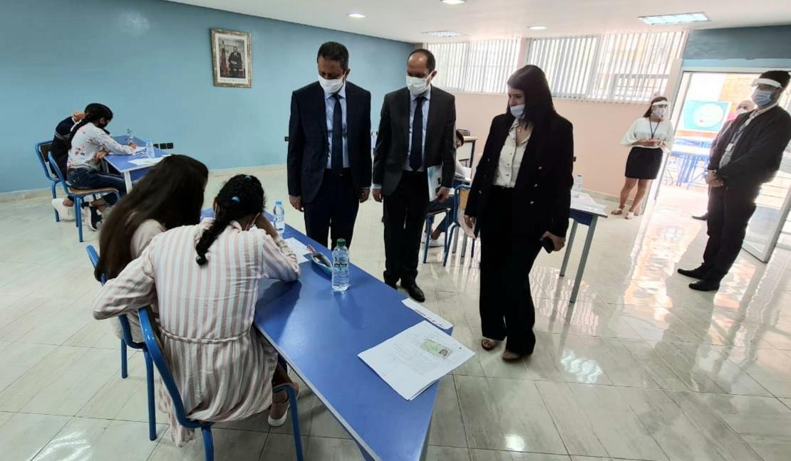بالصور.. السلطات التربوية المركزية والجهوية تتابع إجراء امتحانات البكلوريا بجهة الدارالبيضاء سطات