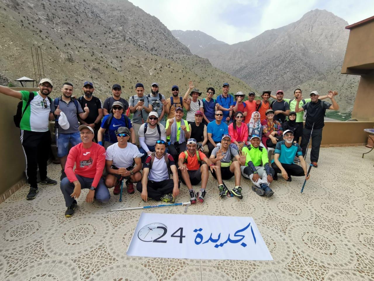 جمعية ''مزاغان ماراطون'' تتحدى قمة توبقال في رحلة لدعم السياحة الجبلية