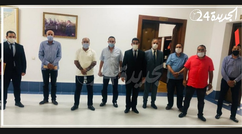 الكروج يستقبل أعضاء من مكتب الدفاع الجديدي والأعضاء المستقيلون يتراجعون عن استقالتهم