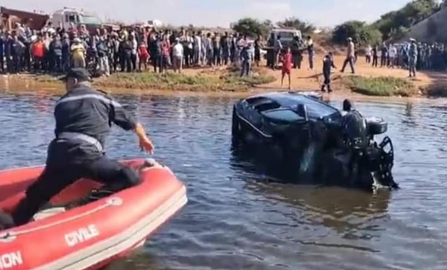 أزمور: سقوط سيارتين بوادي أم الربيع و انتشال جثة ضحية من وسط مياه النهر