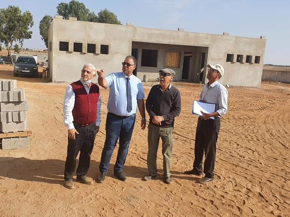 المدير الإقليمي للتعليم بالجديدة يتفقد مشروع توسعة ثانوية موسى بن نصير بجماعة متوح