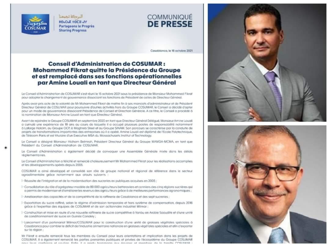 تعيين أمين الوالي على رأس  إدارة مجموعة كوسومار