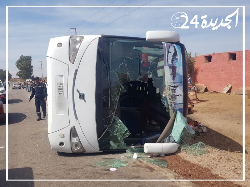 عاجل..  ارتفاع ضحايا حافلة نقل المسافرين إلى 3 قتلى وأزيد من 30 جريحا