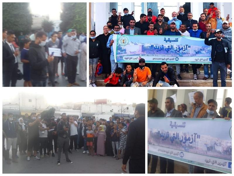ساكنة آزمور تخرج للاحتجاج على تردي الأوضاع الأمنية والاقتصادية بالمدينة